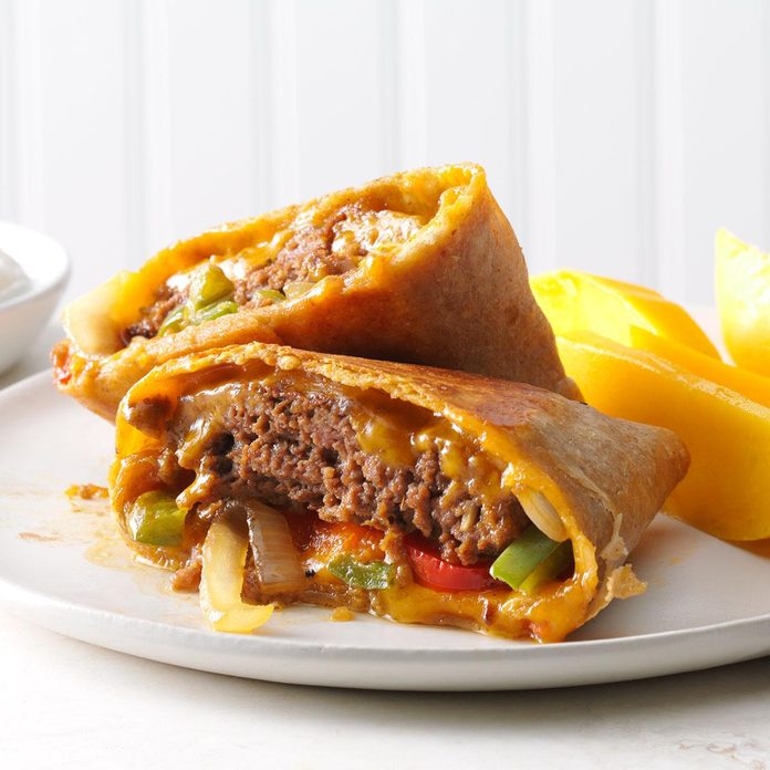 Fajita Burger Wraps