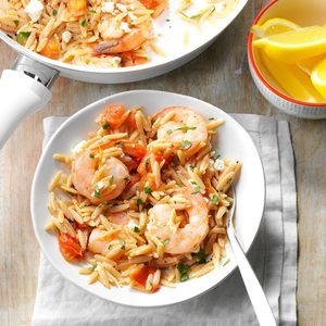 Shrimp Orzo with Feta