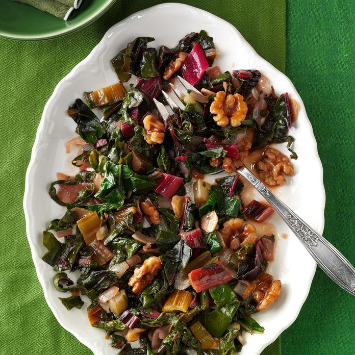 Swiss Chard with Onions & Garlic