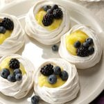 Meringue Shells with Lemon Curd