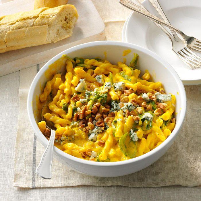 February: Winter Squash & Blue Cheese Pasta