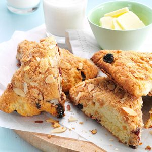 Cherry Almond Streusel Scones