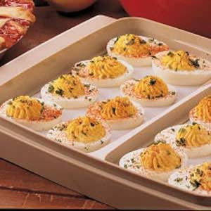 Sweet-Sour Deviled Eggs