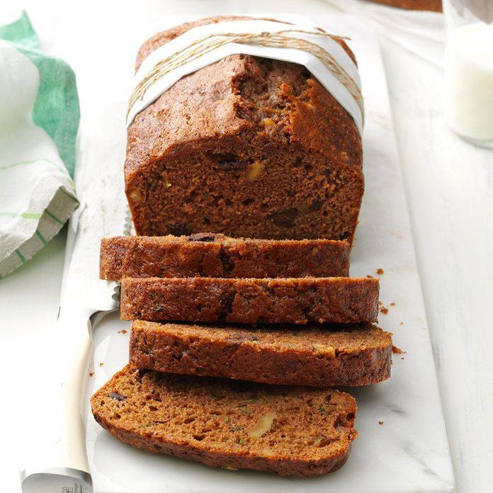 Dark Chocolate Chip Zucchini Bread