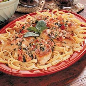 Chicken with Fettuccine