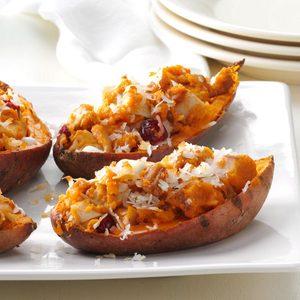 Triple-Stuffed Sweet Potatoes