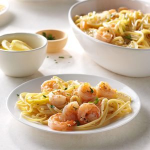 Lemon Shrimp Linguine