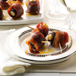 Candied Bacon-Wrapped Figs