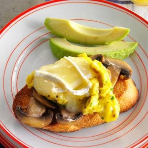 Mushroom-Avocado Eggs on Toast