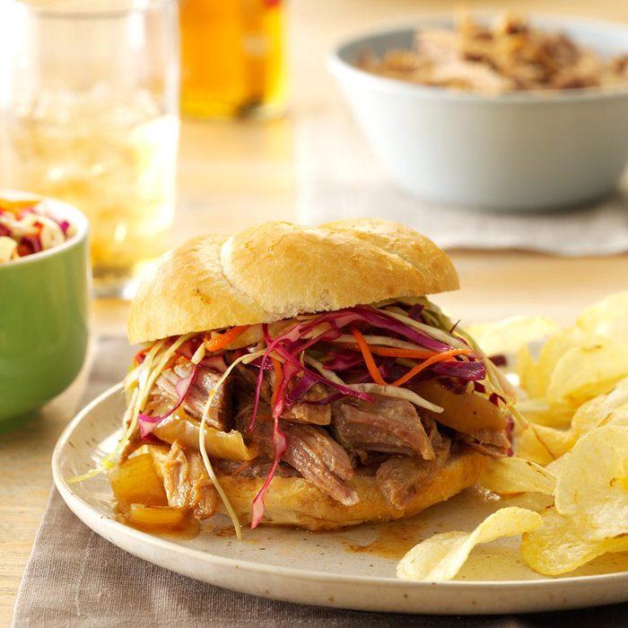 December: Sweet & Spicy Pulled Pork Sandwiches