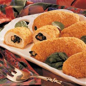 Breaded Spinach-Stuffed Chicken