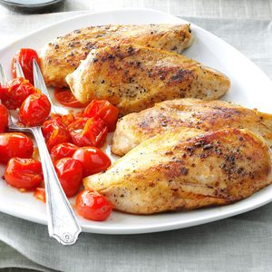 Balsamic Chicken with Roasted Tomatoes