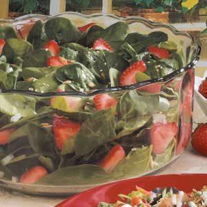 Sunflower Strawberry Spinach Salad