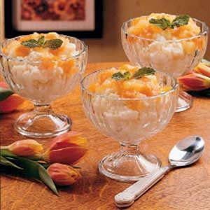 Apricot Rice Custard