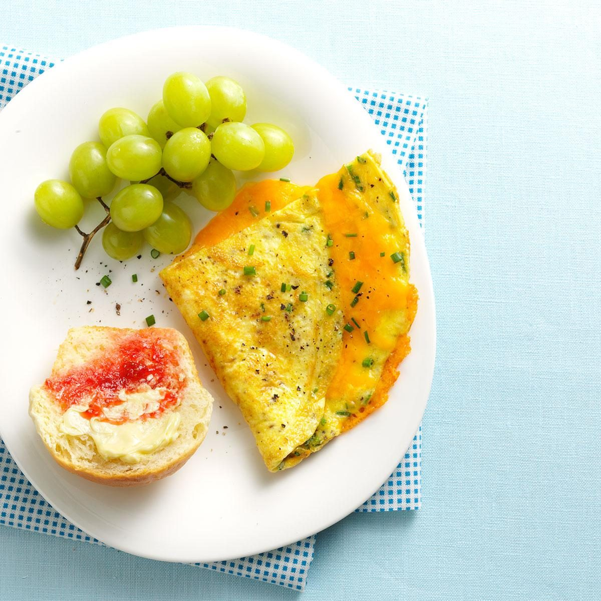 Cheesy Chive Omelet