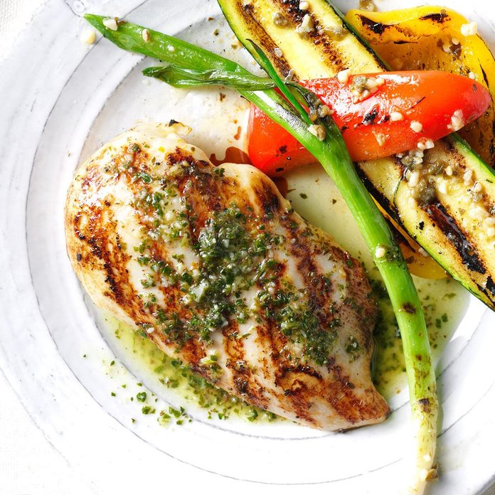 Chicken with Citrus Chimichurri Sauce
