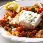 Tomato-Poached Halibut