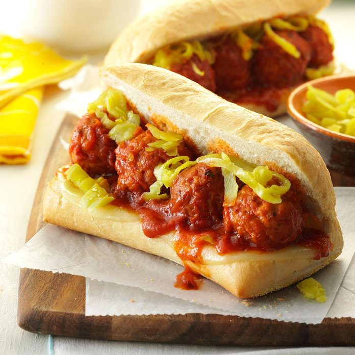 Slow-Cooker Meatball Sandwiches