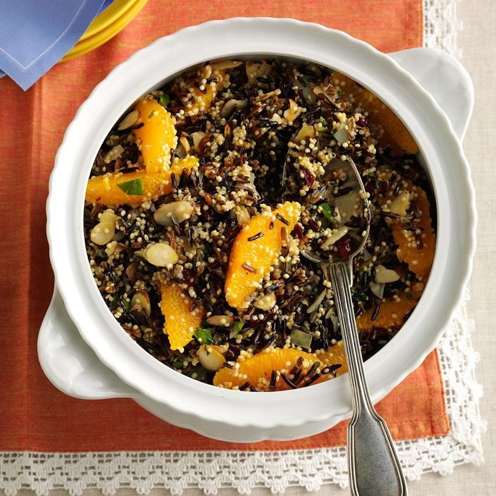 Wild Rice, Quinoa & Cranberry Salad