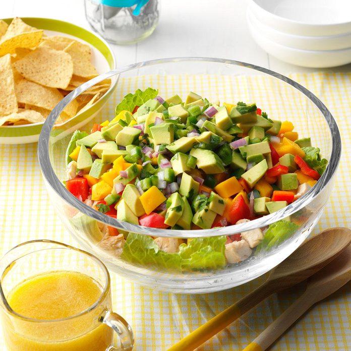Tropical Layered Chicken Salad