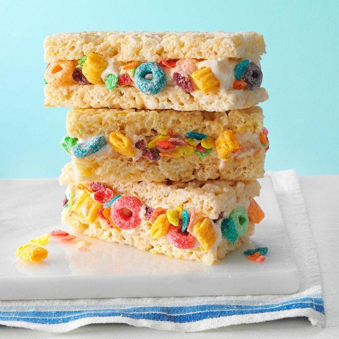 Cereal & Milk Ice Cream Sandwiches