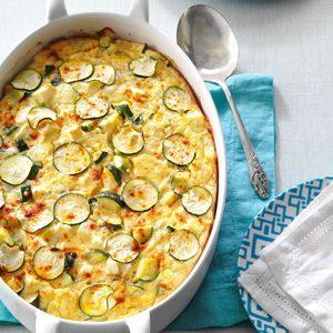 Greek Zucchini & Feta Bake