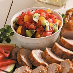 Pork with Watermelon Salsa