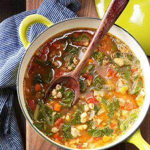 Sausage & Greens Soup