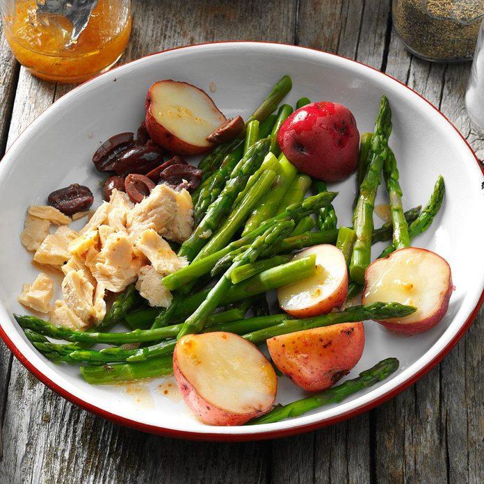 Day 5: Asparagus Nicoise Salad