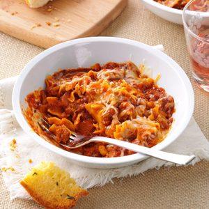 Spicy Lasagna Skillet Dinner