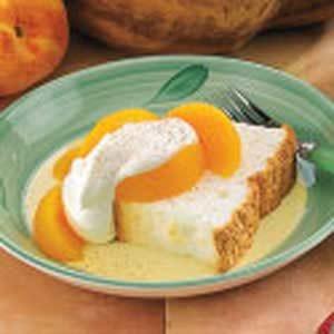 Peach Angel Food Cake