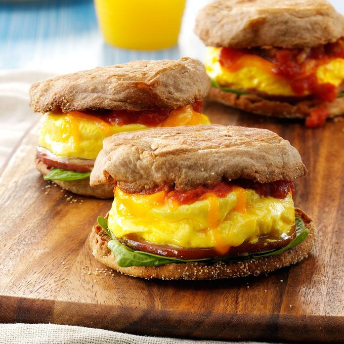 Inspired by: Dunkin' Ham, Egg & Cheese on an English Muffin