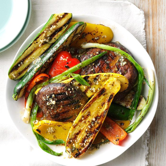 Grilled Veggies with Caper Butter