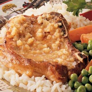 Apple-Mustard Pork Chops