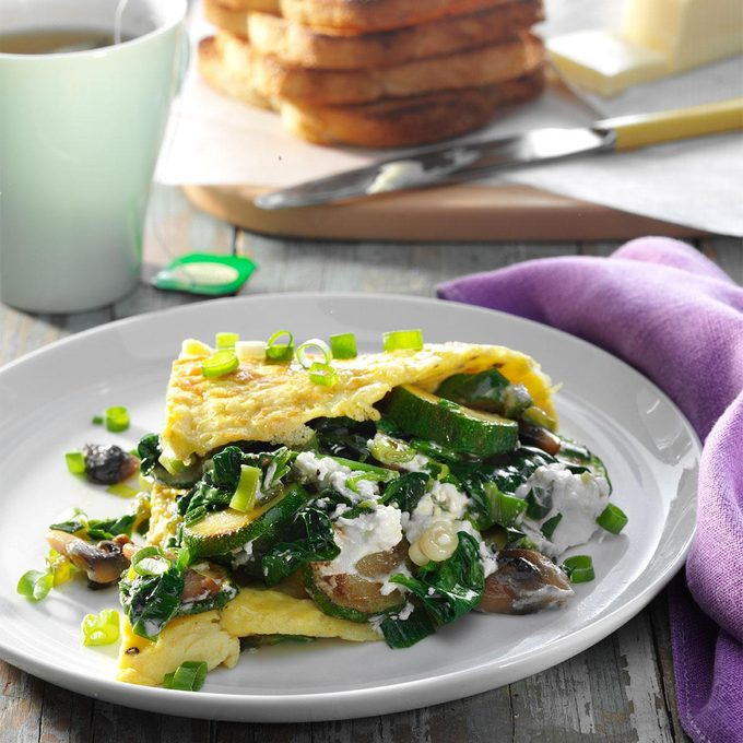 Day 5 Breakfast: Veggie Omelet with Goat Cheese
