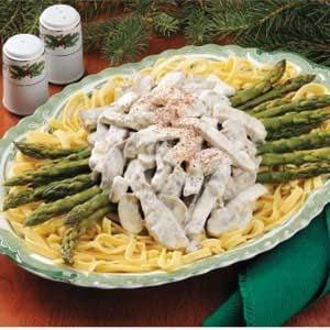 Asparagus Beef Stroganoff