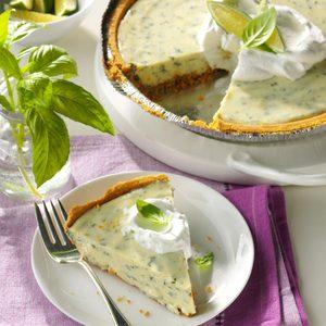Lime Basil Pie
