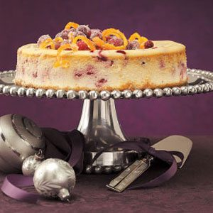 Citrus Cranberry Cheesecake