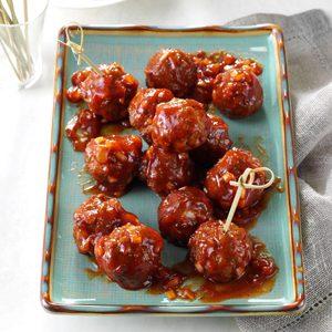 Barbecue Glazed Meatballs
