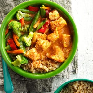 Thai Red Curry Chicken & Vegetables