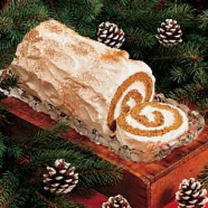 Gingerbread Yule Log