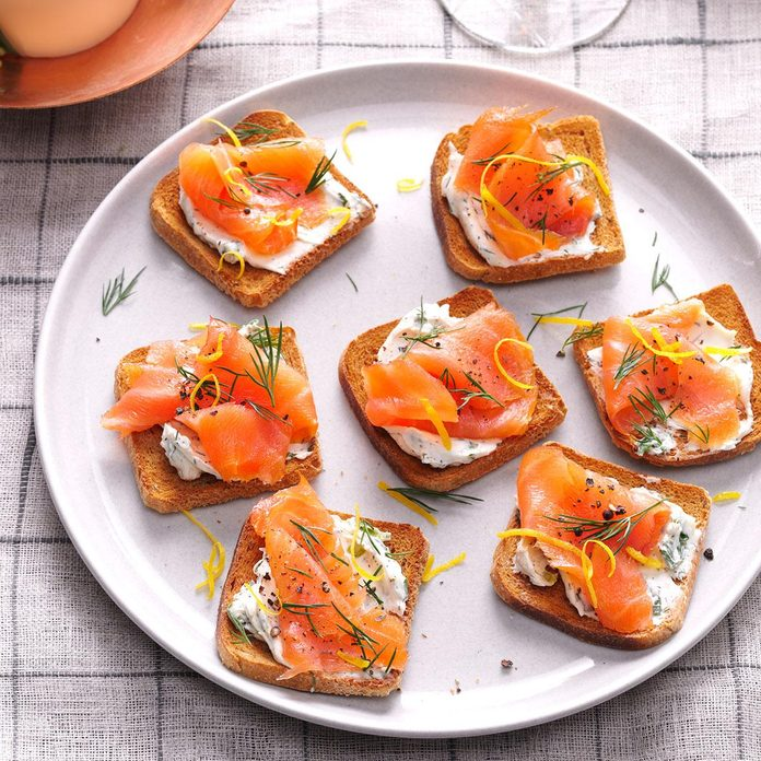 Lemon-Herb Salmon Toasts