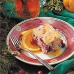 Cranberry Cake with Orange Sauce