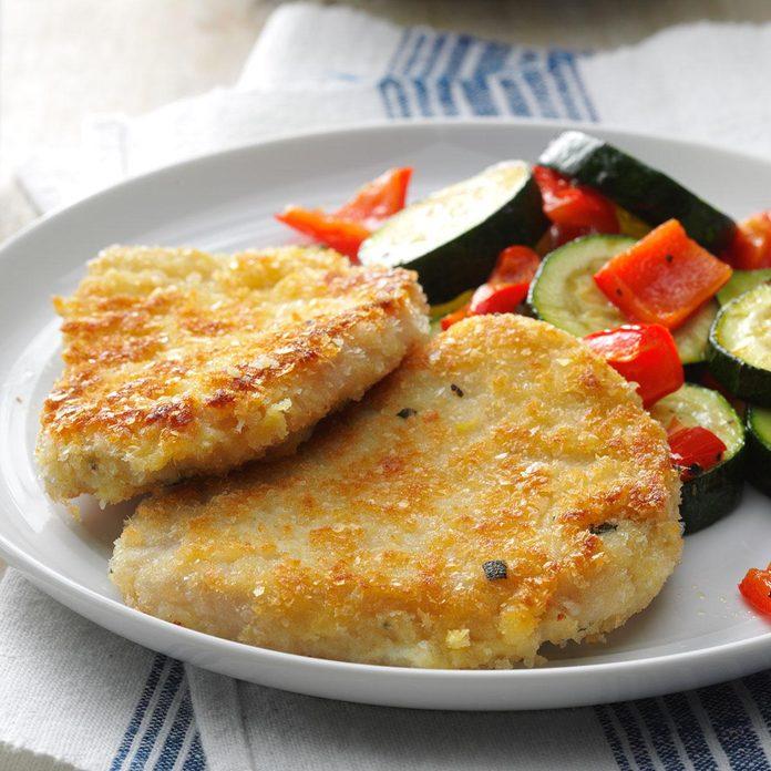 Day 5 Dinner: Breaded Mustard & Sage Pork Cutlets