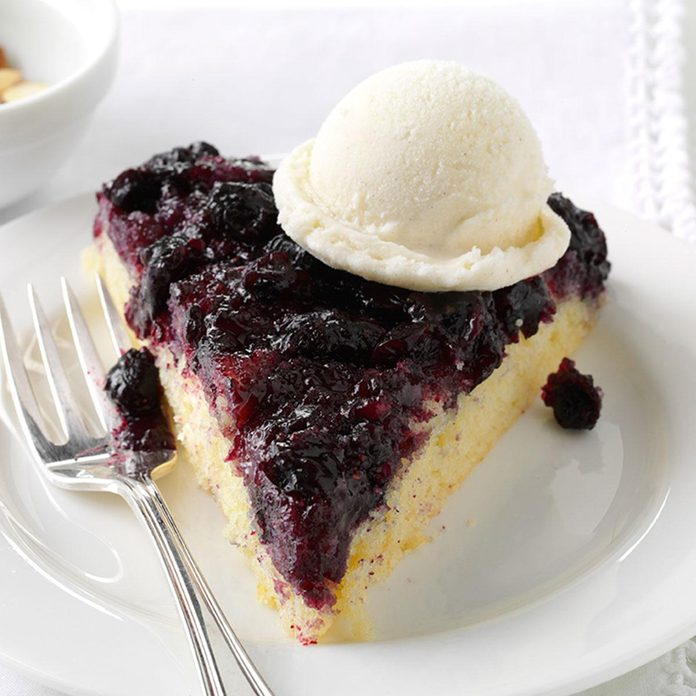 Blueberry Upside-Down Skillet Cake