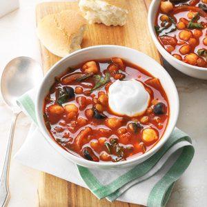 Spicy Lentil & Chickpea Stew