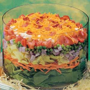 Layered Veggie Egg Salad