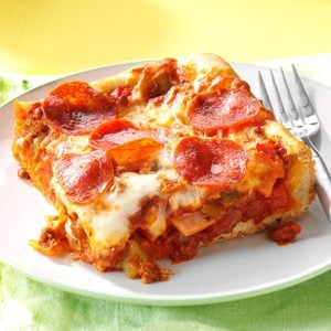 Quick & Easy Deep Dish Pizza