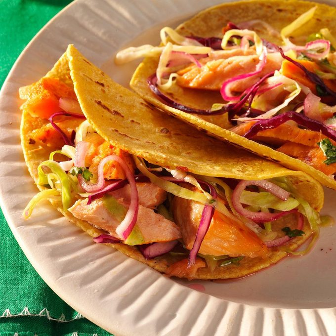 Grilled Chipotle Salmon Tacos