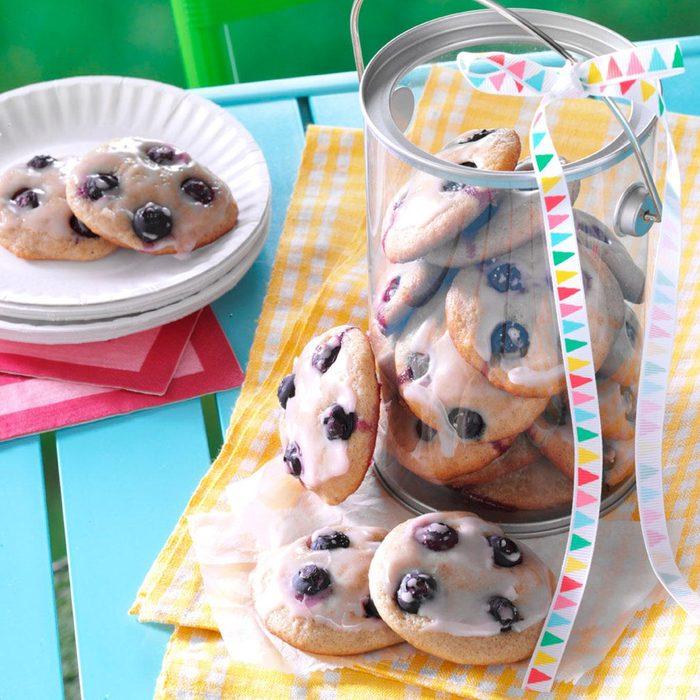 Rhode Island: Soft Blueberry Button Cookies